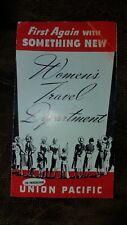 """Vintage """"Women's Travel Department"""" Broucher Union Pacific Railroad 1940"""