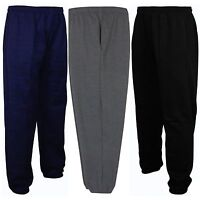 NEW MENS FLEECE JOGGERS JOGGING TRACKSUIT BOTTOMS TROUSERS PANTS BIG PLUS SIZES