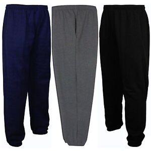 Mens Fleece Joggers Jogging Tracksuit Bottoms Trousers Jog Pants Big Plus Sizes