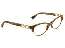 Coach Eyeglasses HC 5063 Kitty 5272 Light Brown Horn Gold Frame 51[]16 135