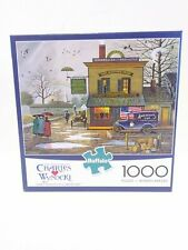 Charles Wysocki Buffalo Games 1000 Piece Puzzle Dampy Donuts on a Dreary Day