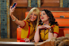 2 Broke Girls 8X10 waitress outfit from show taking a selfie