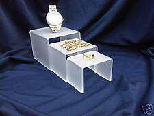 JEWELLERY RISER SHOP DISPLAY STANDS IN FROSTED PERSPEX