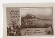 Happy Birthday Real Photo Greetings Postcard, A852
