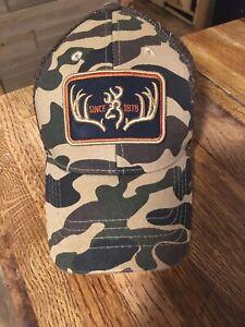 Browning Old School Camo Mesh Back Adjustable Hat