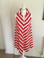 Vintage 1970's Polly Peck By Sybil Zelker Cotton Dress Size 10-12