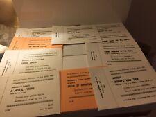 Large Lot Vintage concert tickets &  Ephemera 40+ pieces
