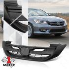 "Matte Black ""Sport Style"" Front Upper Bumper Grille for 13-15 Honda Accord 4Dr"