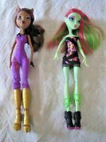 Monster High Doll Lot ~ Clawdeen Wolf & Venus McFlytrap