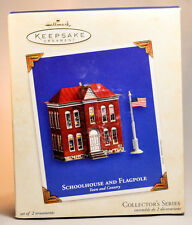 Hallmark: Schoolhouse and Flagpole - Town and Country - 2003 Keepsake Ornament