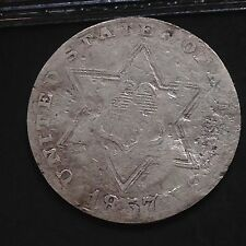 USA 1857 Three Cent Silver Trime 3 Cents Philadelphia Silber Selten 3779
