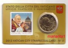 Vaticano 50 cent 2013  stamp&coincard 4
