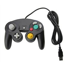 Black Gamecube Style USB Wired Controller for PC Mac-Classic Nintendo Game Cube