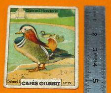 CHROMO 1920 1930 CAFE GILBERT CANARD MANDARIN SERIE II N°12 OISEAU VOLAILLE