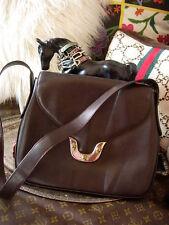 RARE Vintage Pretty GUCCI Leather Tiger Enamel Kelly Bag Purse Handbag Speedy