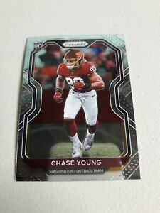 2020 Panini Prizm CHASE YOUNG Rookie Base Card Redskins RC 🏈🔥