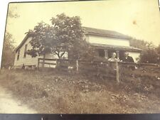 .1889 LARGE ORIGINAL PHOTO, AMERICAN HOMESTEAD of ISAAC WILLIAMS & WIFE.
