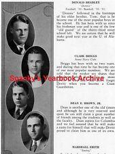 1931 Washington DC Devitt School Yearbook~Photos~History~Football~Graphics~Ads