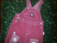 "BOYS "" FADED LOOK "" RED OVERALLS ideal for Cake Smash Outfit Size 1 TARGET  VGUC"