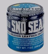 7oz SNO SEAL All Season Leather Protector Beeswax WATERPROOFING Boots MORE Atsko