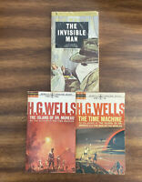 H. G. Wells Vintage PB Lot of 3 - Invisible Man, War of the Worlds, Time Machine