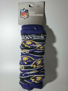 NFL Baltimore Ravens Leg Warmers One Size 1 Pair NEW