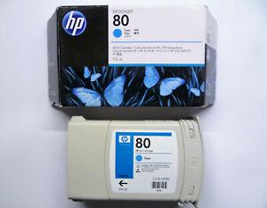 HP original 80 cyan C4846A DesignJet 1050 1055 UNBENUTZT VERSIEGELT - 27/10/2016