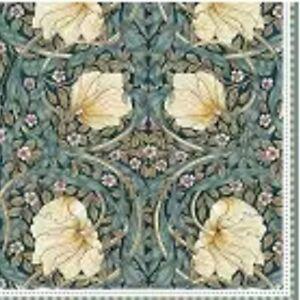 4 single paper napkins 33 cm, William Morris Black, decoupage, crafts R2803