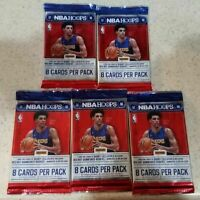 (5) UNSEARCHED 2017-18 NBA Hoops Basketball HOBBY Packs TATUM MITCHELL BALL RC's