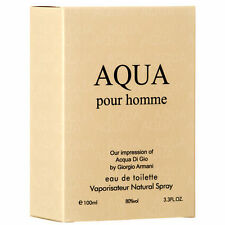 AQUA Pour Homme By Royal For Men EDT Spray 3.3oz Perfume Fragrance NEW SEALD BOX