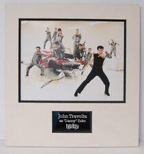 John Travolta Signed 14X11 Photo Mounted Photo Display Danny Zuko AFTAL COA (A)