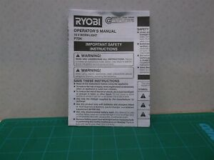P704 Ryobi 18 Volt One+ Rotating Head Flashlight (Manual Only)
