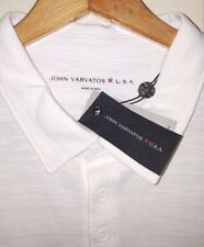 NEW John Varvatos USA Polo Shirt Men's Medium White