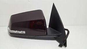 New OEM CHERRY Mirror w/ Turn Signal Fits Traverse Acadia Outlook Passenger Side