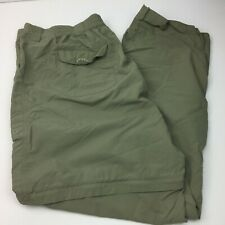 Field & Stream Men's Convertible Cargo Pants Shorts Olive Green Size X Large