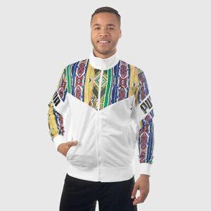 Puma x Coogi Track Jacket White MEDIUM 575201-01 Multi Australia Cosby Sweater
