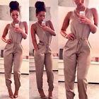 Women Lady Clubwear V-Neck Playsuit Bodycon Party Jumpsuit Romper Trousers S-XL
