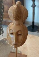Petit Masque Afrique Bois Betté 1980 Sculpture Abidjan rare ancien décor ethnic