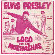 """ELVIS PRESLEY """"Loco por las Muchachas"""" Ultra rare Orig PROMO 1965 PERU 45"""