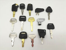 14pc Excavator heavy Equipment key For volvo Caterpillar Hitachi Kobelco Komatsu