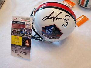 DAN MARINO signed HALL OF FAME mini helmet JSA COA DOLPHINS
