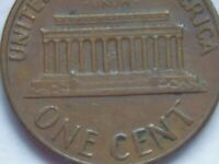 1969-D 1C Lincoln Memorial Cent Penny Floating Roof Mint ERROR Coin