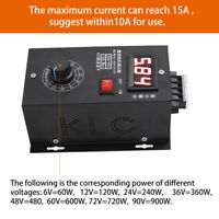 DC Motor Speed Governor 6-90V PWM Module 15A Digital Controller Switch Display R
