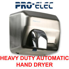 2500W CHROME BRUSHED STEEL AUTOMATIC HAND DRYER WALL MOUNTED  REVOLVING NOZZLE