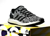 NEW ADIDAS PUREBOOST OREO BLACK WHITE MEN'S BOOST RUNNING SHOES PURE BOOST