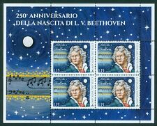 2020 Vatican City: 250thanniv. of Birth of Ludwig van Beethoven MNH sheet