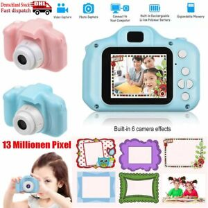 """Kamera Kinder 2,0"""" TFT Farbdisplay 1080p HD 13MP Pink inkl 4 Spiele Fotoapparat"""
