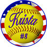 """Pick 2- 4"""" Vinyl Sports Decals Personalize Text Gifts Girls Boys Teams Sports"""