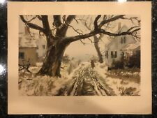 WINTER BY THE SEA BY JOHN WHORF LIVING AMERICAN ART LITHOGRAPH VINTAGE PRINT