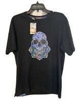 Robert Graham Skull Spirit Graphic Tee Black T-Shirt Sz XL NWT & 100% Authentic